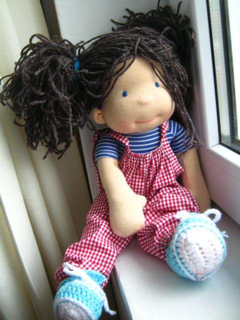 "Waldorf doll, waldorf inspired doll, steiner doll, organic doll, 14"" tall doll, fabric doll, cloth doll, handmade, gift for her"