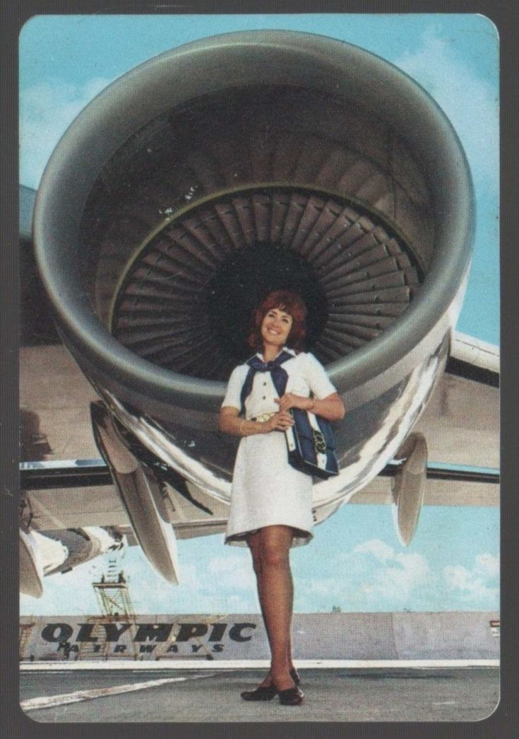 Olympic Airways Vintage Plastic Pocket Calendar, 1974