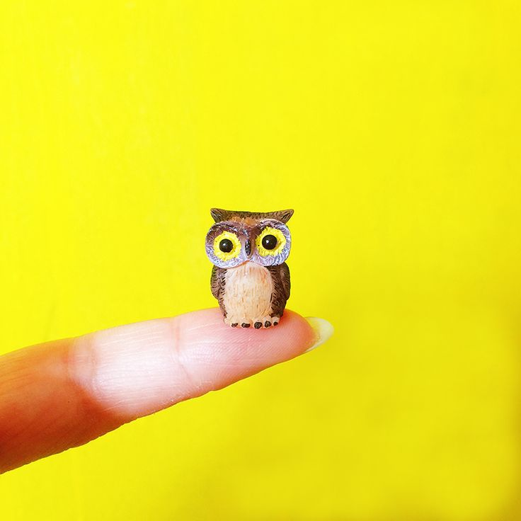 sale~1Pcs random color/owls/miniatures/lovely animals/fairy garden gnome/moss terrarium decor/crafts/bonsai/table decor