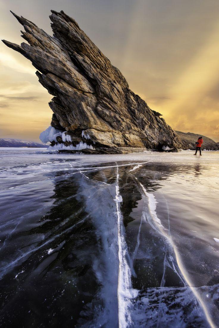 Monster Rock of lake Baikal - Ogoy island , Lake Baikal , Russia