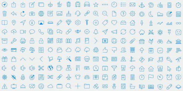 Glyphish icon set for iOS7