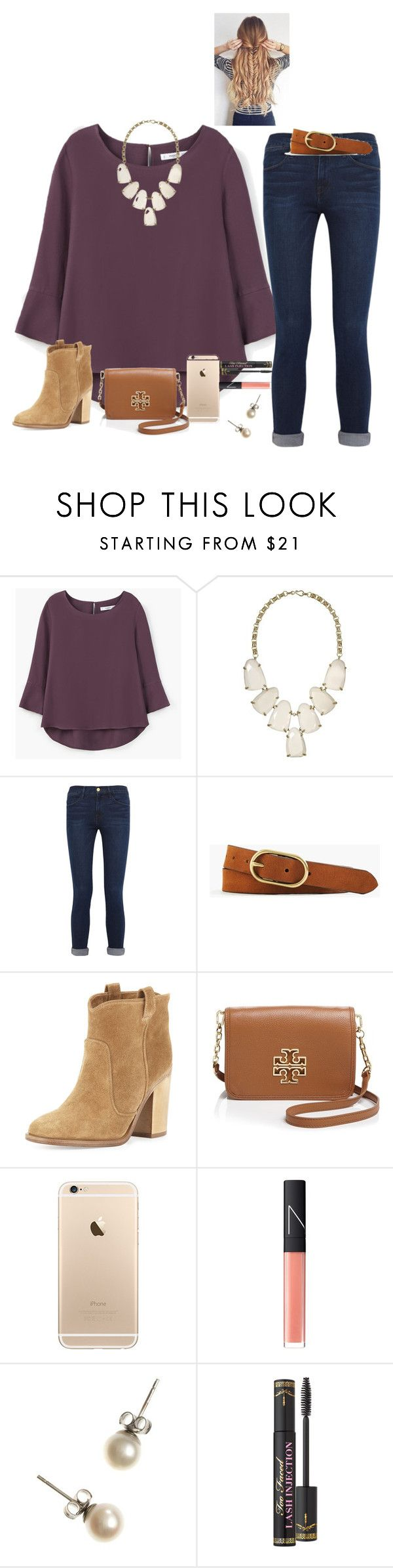 """""""Cutouts and text isn't working on poly. Anyone else?"""" by raquate1232 ❤ liked on Polyvore featuring MANGO, Kendra Scott, Frame, J.Crew, Laurence Dacade, Tory Burch, NARS Cosmetics and Too Faced Cosmetics"""