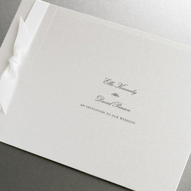 Wedding Invitations Ireland :: Finer Details :: Classic Wedding Invitation Collection :: Hilary Elegant Wedding Invitation