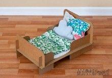 Кровать для куклы из картона. МК