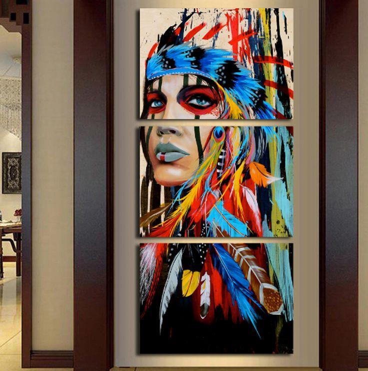 #NativeIndianFemaleCanvas #Colorful #Pride #Multicultural #Feathered #AvailableAtEpikkanvas https://www.amazon.com/dp/B072V3NDZ3