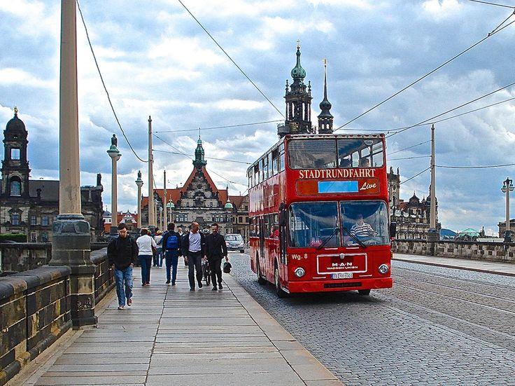 ... autobus M.A.N a due piani usato come city-tour - Dresden (D) - 27 giu 2007  - © foto di Umberto Garbagnati -