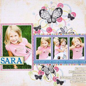 Line Photos Up: Scrapbook Ideas, Photo Strips, Creative Spin, Scrapbook Inspiration, Multiphoto Scrapbook, Bold Paper, Scrapbook Layout Families, Paper Crafts, Large Photo
