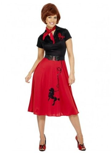 1950s Poodle Womens Costume. 1950s costumes, Rockabilly  fancy dress, America theme costumes from Costume Direct online store