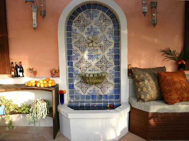 Outdoor Moroccan Decor Design Ideas: 38 Best Images About Mexican Tile Fountains On Pinterest