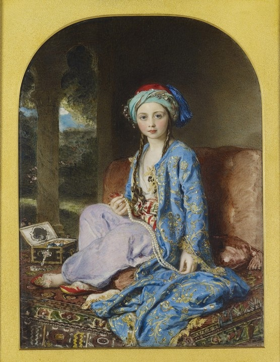 Painting of the Princess Victoria in Turkish dress.