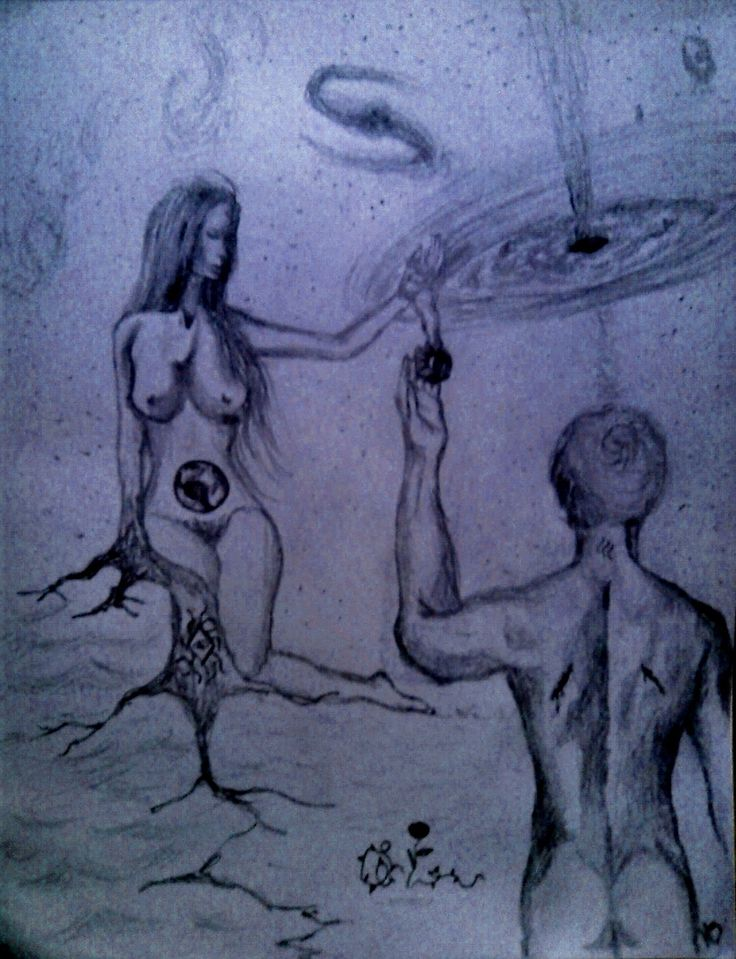 """""""El ritual de Adán y Eva"""". Creación propias. MZ."""