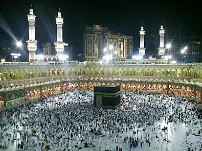 pelrinage, la Mecque , Arabie Saoudite : Pour les musulmans , réputé pour la pierre noire ancienne météorite. Ville sainte.