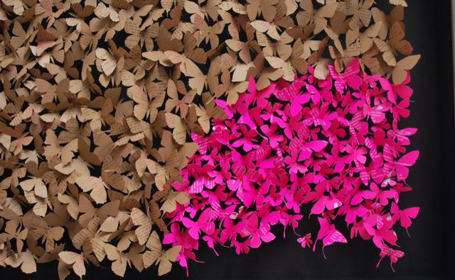 Paperart butterflies by Rebecca Coles - weezbo inspiration