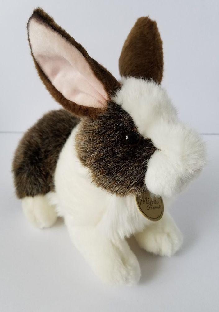 Aurora Chocolate Dutch Rabbit Stuffed Plush Bunny 10 Inch Soft Easter Toy #Aurora
