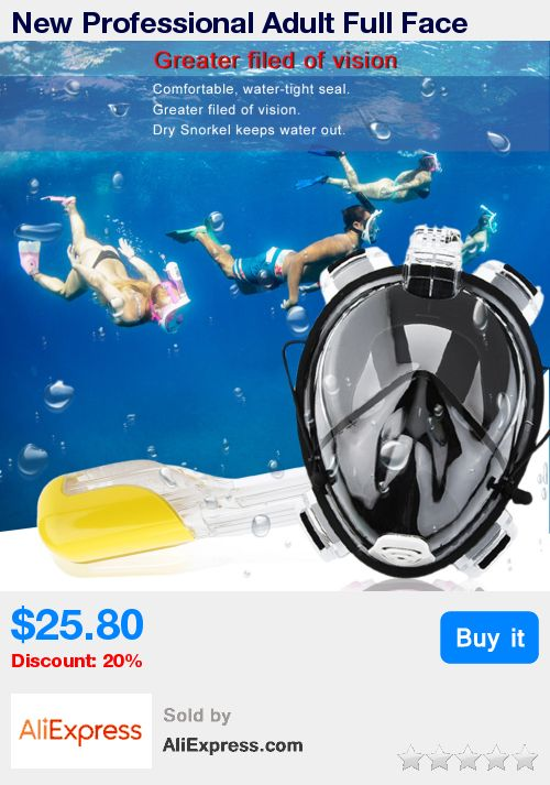 New Professional Adult Full Face Diving Mask Comfortable Waterproof Underwater Diving Mask Anti Fog Full Face Diving Mask top * Pub Date: 22:35 Jul 7 2017