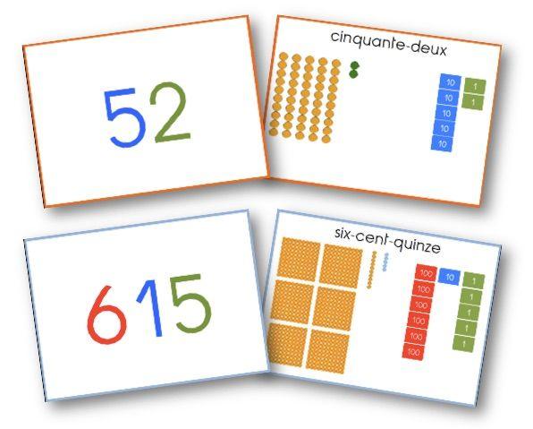 Pour travailler en numération avec le matériel Montessori - graines de livres
