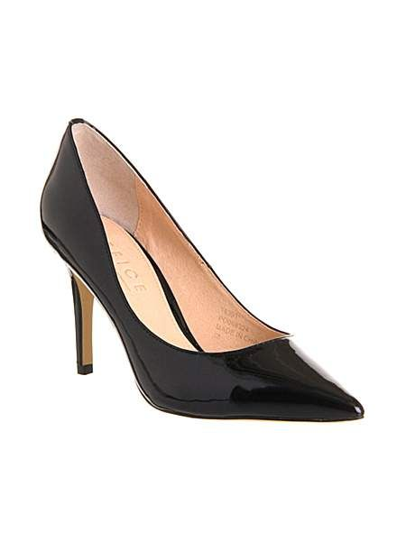 Devious pointed toe stiletto court shoes