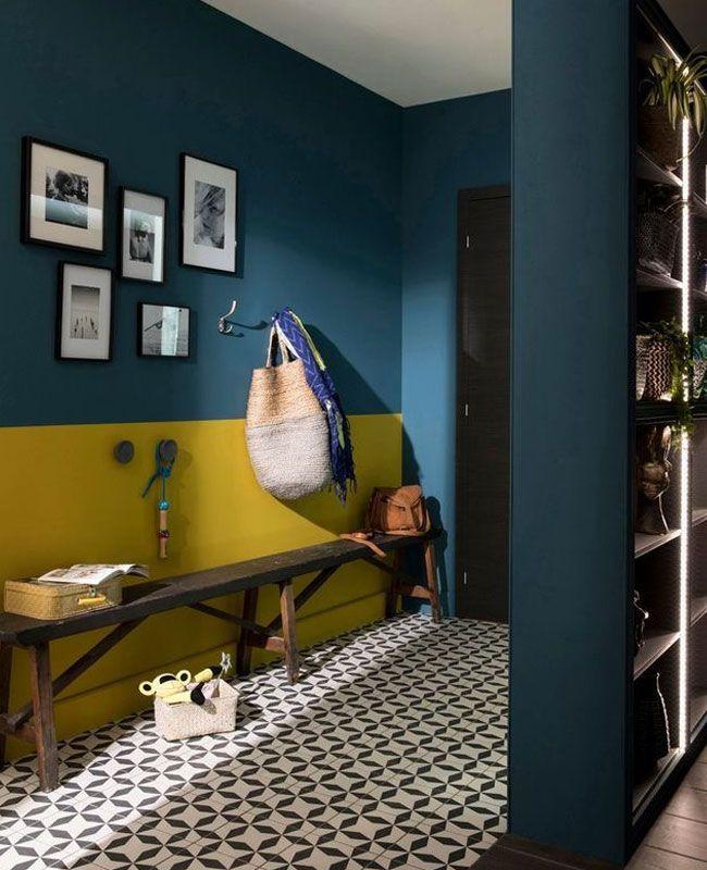 Une Deco En Bleu Canard Et Jaune Moutarde My Blog Deco En 2020 Decoration Maison Jaune Decoration Murale Idees De Decor