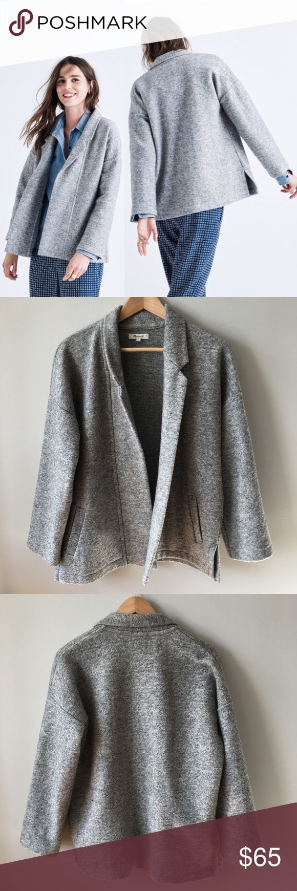 """Madewell Speaker Jacket Part jacket, part cardigan, this easy blazer is what our designers call a """"coatigan."""" Made of a chill-friendly wool blend, this one will keep any look cool but casual. Slightly boxy fit. Wool/bamboo/poly. Dry clean. Item F5722  Re-poshing because sadly it is too big for me. Dry cleaned and worn for a couple of hours - no stains, pilling, or pulls - in excellent condition. Still available on-line! Fall 2016 Collection. Bundle & save 💰! Sorry - 🚫 trades! Madewell…"""