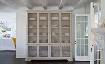 Vintage Wire-Window Cupboard/China Cabinet - contemporary - dining room - new york - Chango & Co.