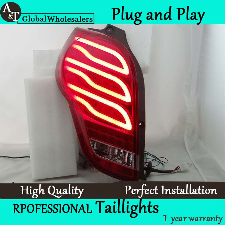 A&T Car Styling for Chevrolet Spark Taillights 2010-2014 New Spark LED Tail Light Rear Lamp DRL+Brake+Park+Signal