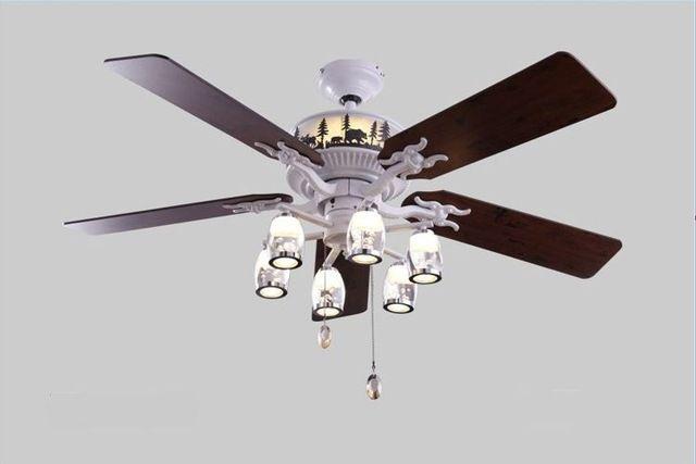 52 pulgadas de la lámpara ventilador de techo sala de estar dormitorio  lámparas restaurante ventilador llevó