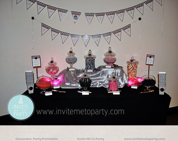 40th Party Printable Decorations by InviteMe2Party on Etsy, $29.00