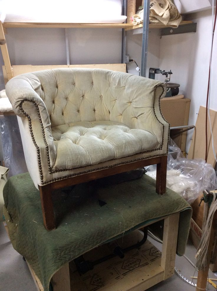 Old Wore Out Tufted Tub Chair
