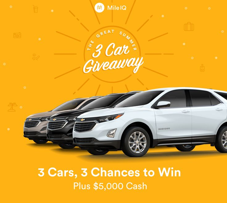 The Great #Summer 3 #Car #Giveaway! Start referring your friends for a chance at a #Chevy #Equinox! 🚘 #mileiq