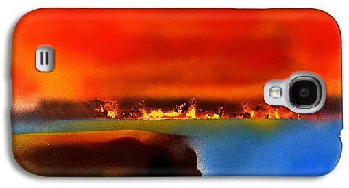 Burning Shore Galaxy S4 Case Printed with Fine Art spray painting image Burning Shore by Nandor Molnar (When you visit the Shop, change the orientation, background color and image size as you wish)