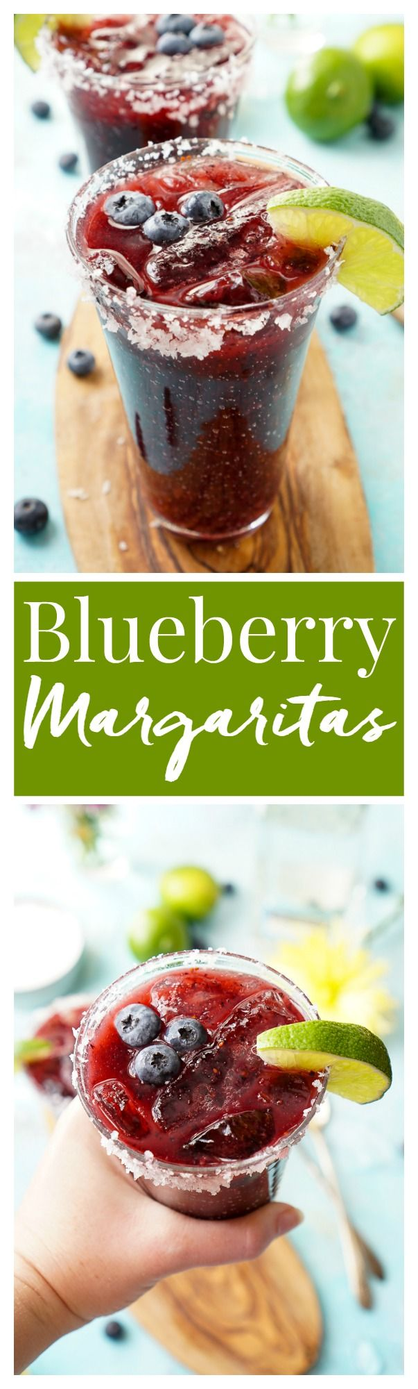 This Fresh Blueberry Margarita is made with ripe blueberries and Altos Tequila for a New England take on the classic cocktail! #AltosTequila #ad @altostequila