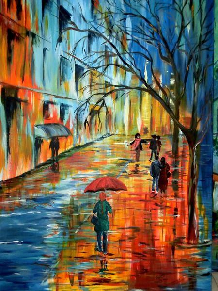 Acrylmalerei nach dem regen 2 ein designerst ck von - Acrylmalerei ideen ...