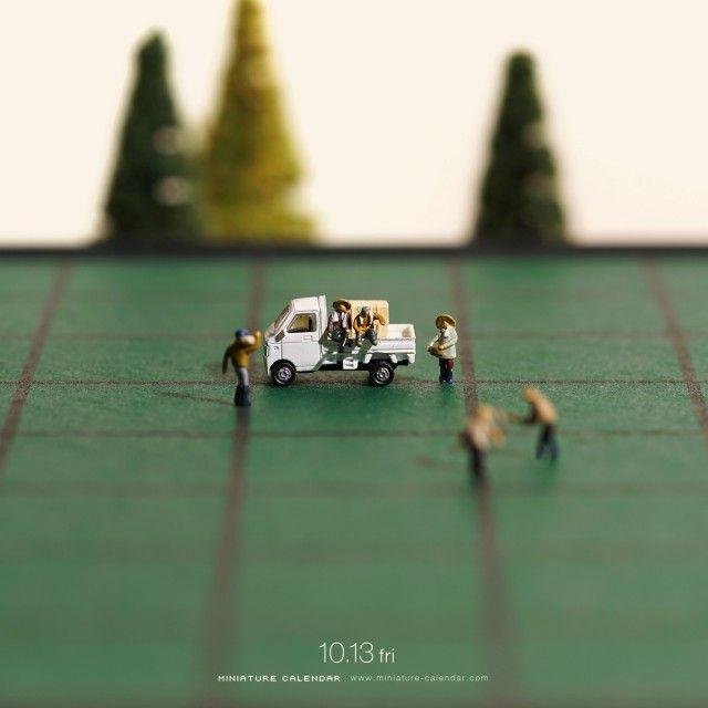 Miniature Calendar 達也 ライフ ジオラマ