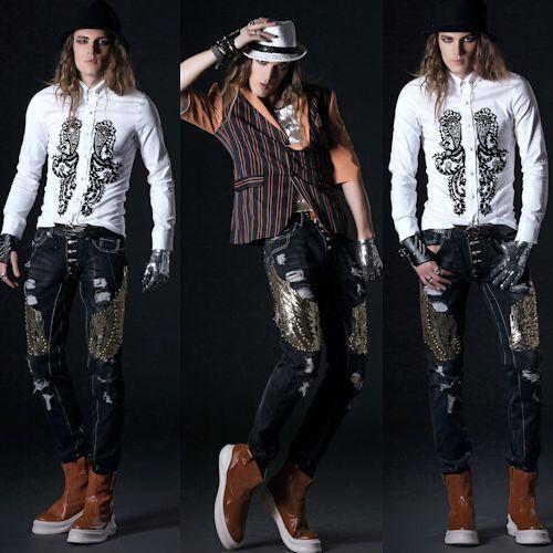 Designer Russet Leather High Heel Gothic Fashion Dress Boots for Men SKU-1280880