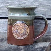 Webb Custom mug with impressed company logo #mug #pottery #logo #custom