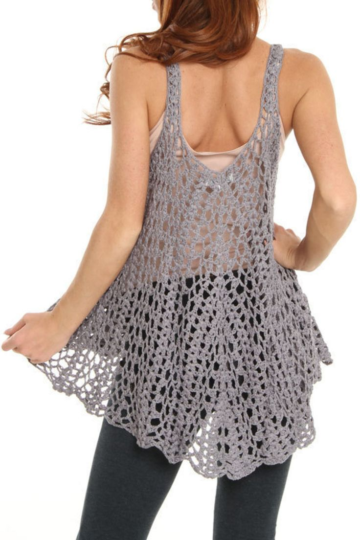 loose crochet cami