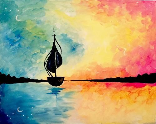Paint Nite Erie | And straight on til Morning at Erie Ale House 07/28/2015