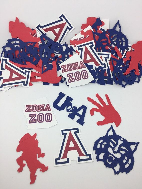 U of A / University of Arizona / Wildcats Confetti by LouCatStudio