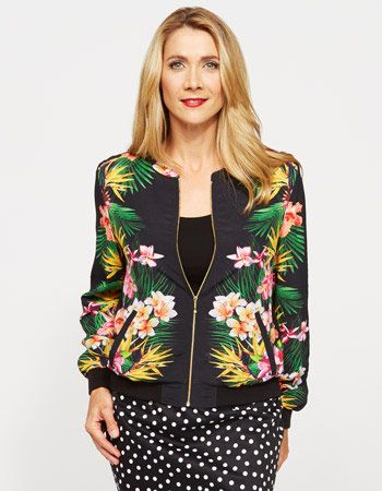 Print Bomber Jacket from JacquiE