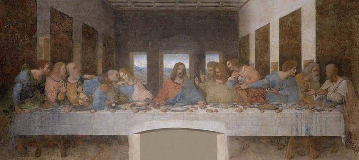 Leonardo, Ultima cena (particolare), 1495–1497, Milano, Convento di Santa Maria delle Grazie