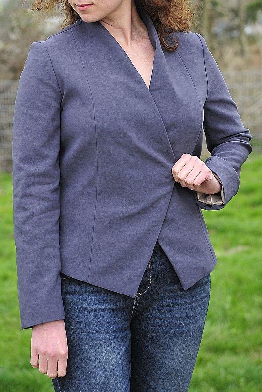 Szablon do pobrania, free sewing pattern. simple high necked jacket