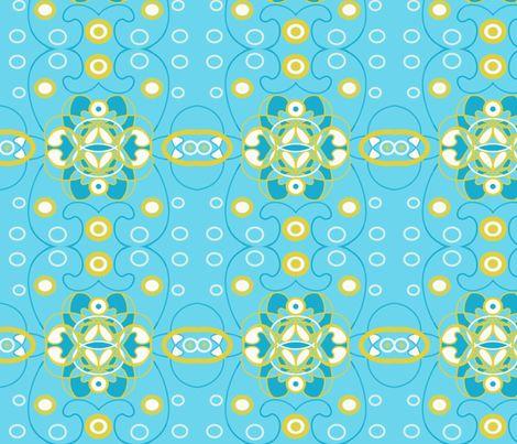 Aqua Gold1 fabric by dkmagfab on Spoonflower - custom fabric