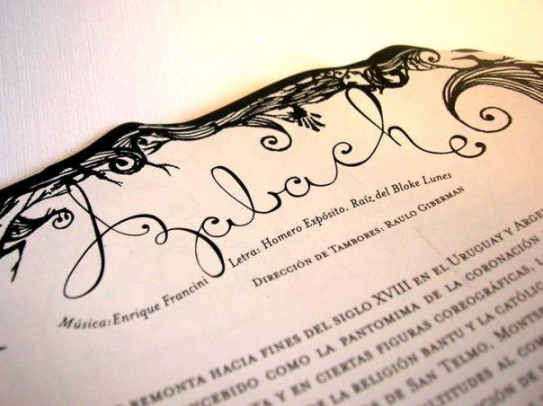 Alfabeto diseñado para el disco de La Chilinga