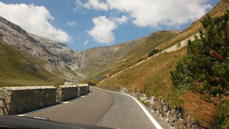 on the road to stelvio pass