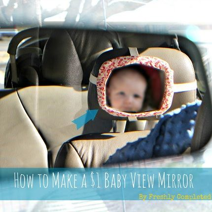 Go to her blog for the how-to make a $1 baby view mirror