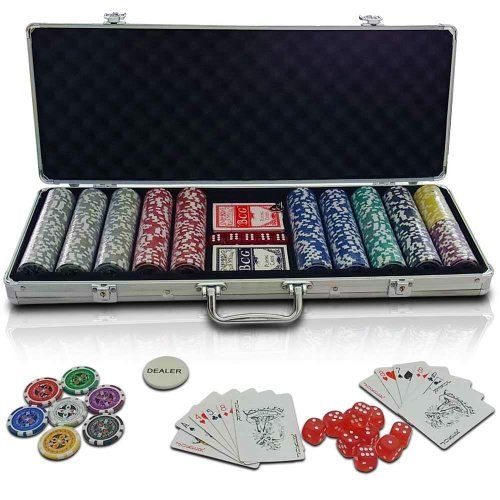 Jago - Mallette poker - PC500-Ultimate - 500 jetons - 12 gr. - 2 jeux de cartes - dés - boutons dealer - coffre inclus: Amazon.fr: Chaussure...