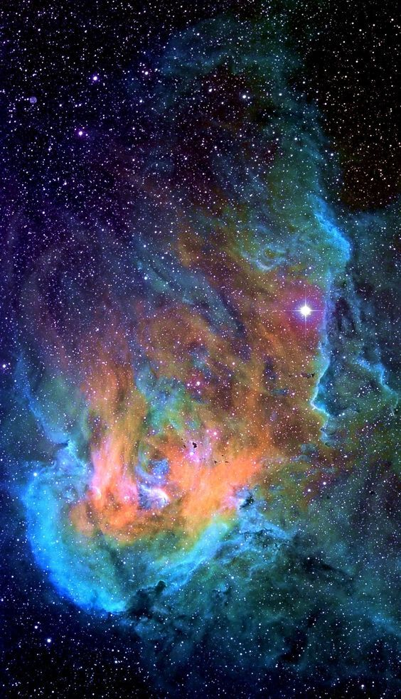Running Chicken Nebula in the constellation Centaurus
