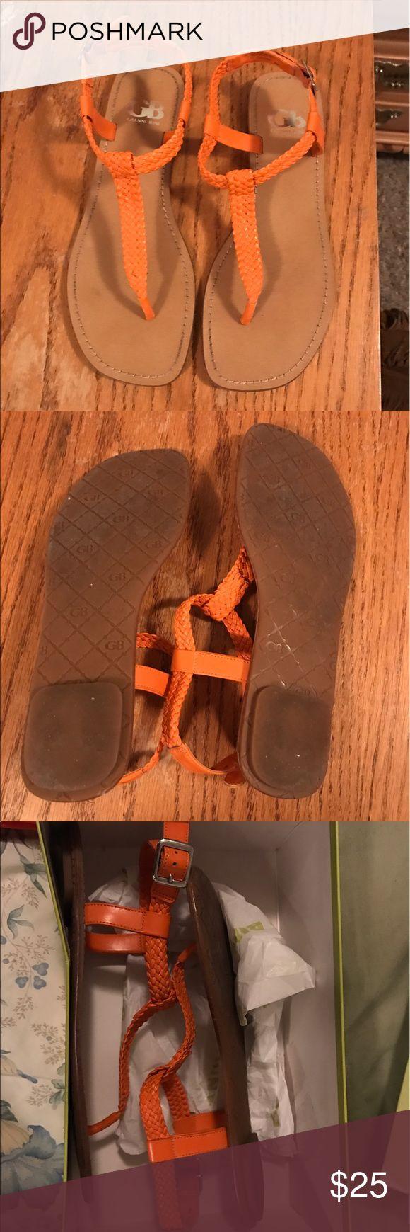 Gianni bini flats Worn once Gianni bini orange sandals Gianni Bini Shoes Sandals