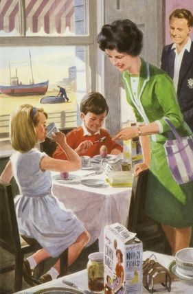 Breakfast by the sea M. Aitchison  1964 ladybird book our friends