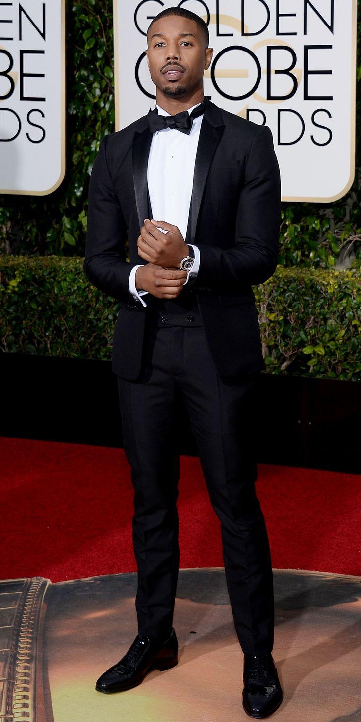 2016 Golden Globes Red Carpet Arrivals - Michael B. Jordan  - from InStyle.com